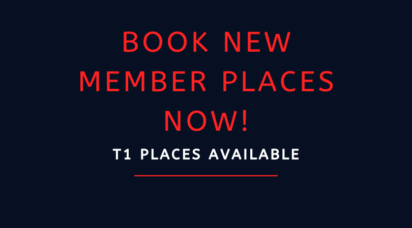 BOOK NOW: New members places for Term 1 20/21